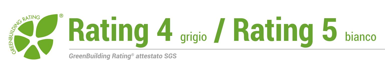 Rating 4 grigio / 5 bianco - ITA